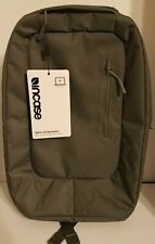 Incase Nylon Compact Lined Backpack Book Bag Gray NWT MacBook Water Resistant