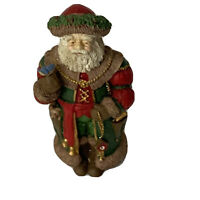 "Vintage Midwest Cannon Falls Santa Holding a Blue Bird Figure Figurine 5"" Tall"