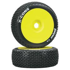 NEW Duratrax 1/8 X-Cons Buggy Tire C3 Mounted Yellow (2) DTXC3613