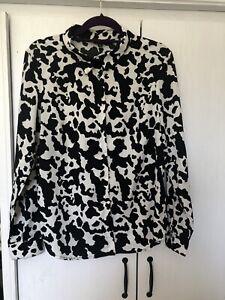 Cow Print Blouse Size Medium 10 12