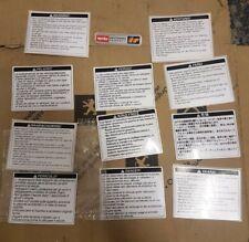 Aprilia Instruction Warning Labels Stickers Frame Body RS125 Rs250 Genuine? RSV