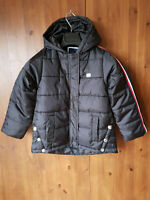 RRP £85 TOMMY HILFIGER GIRLS COAT Black Quilted Puffer School Jacket S / 7 Years