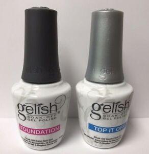 Harmony Gelish Top Base Duo Soak Of Gel For Sale