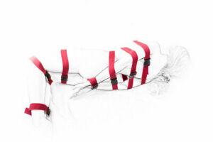 Fantasy 7 Pieces Full Body Belts Set Bondage Restraints Slave Sex Play _ Red