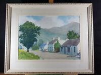 THE ROAD TO GLEN NEVIS HIGHLANDS SCOTLAND WATERCOLOR BY JOHN CORCORAN DATED '80