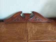 Vintage / Antique Carved Wood Cornice Door Topper Teak?