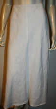 Eillen Fisher White Linen A Line Skirt M Pull-On Style