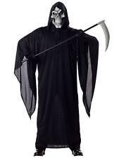 Grim Reaper Horror Robe Death Halloween Skeleton Men Costume
