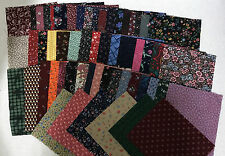 100 Assorted Squares 4.5 x 5.5 pieces small print cotton fabric Quilting