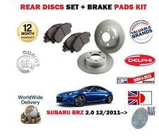 Pour Subaru Brz ZC6 2.0 FA20D 2011> Neuf Frein Arrière Uni Disques Set + Pads