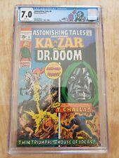 Astonishing Tales 6 CGC 7.0 Dr. Doom custom label Kazar Black Panther