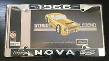 "1966 NOVA license plate frame new chrome steel for 6"" by 12"" plate 1 piece"