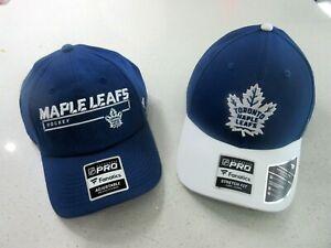 NWT Two (2) Mens Fanatics PRO Toronto Maple Leafs NHL Hockey Hats Caps sz. L/XL