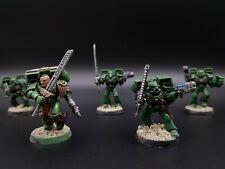 Warhammer 40k 30K Space Marines Salamanders Assault Squad x5  R3S1B2