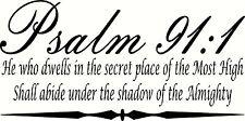 "Psalm 9:11 11""x22"" Bible Verse Wall Decal by Scripture Wall Art - Decor"