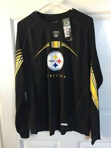 Pittsburgh Steelers: LONG SLEEVE SHIRT: REEBOK ON FIELD: MEN'S MEDIUM NWT