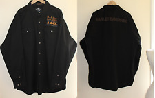 Mens Harley Davidson XXXL Garage 110th Logo Shirt Motorcycle Shirt Jacket 3XL