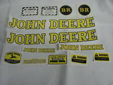 John Deere Model BR Tractor Decal Set - NEW FREE SHIPPING