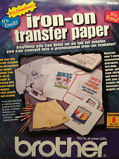 BROTHER IRON-ON TRANSFER PAPER  64 SHEETS