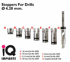 Drill Stoppers + Drill 4.2 mm. Dental Implant - implants.Surgery Instruments.Lab
