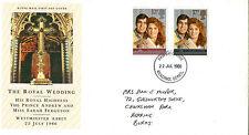 22 JULY 1986 ROYAL WEDDING ROYAL MAIL FIRST DAY COVER READING BERKS FDI