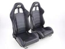 Coppia di sedili sportivi ribaltabili e reclinabili neri FK 2012 nuovi