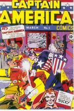 Marvel Comics Postcard: Classic capitán américa # 1 cover (Jack Kirby) (Estados Unidos, 1991)
