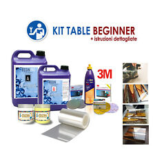 Kit Beginner for Creating the Table in Wood & Resin Epoxy with Instructions