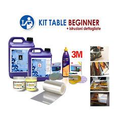 Kit Beginner per creare il tavolo in legno e resina epossidica con istruzioni