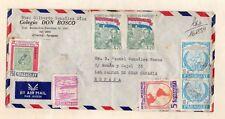 Paraguay Sobre circulado a Canarias año 1986 (DS-553)