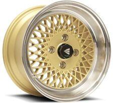 15x7 Enkei ENKEI92 4x100 +38 Gold Rims Fits Accord Integra Civic Miata Fox