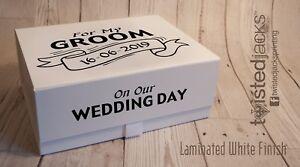 Medium Personalised grooms keepsake box, groom to be wedding gift, grooms gift