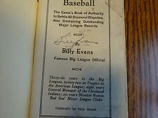 Billy Evans Signed What's What - in Baseball Softcover Book PSA/DNA Autograph