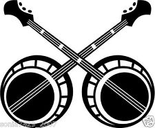 Banjo Decal Two old time bluegrass country music car window stickers