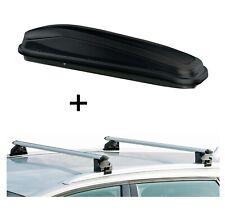Dachbox JUEASY300+Relingträger CRV107A für Peugeot 508 SW/508 rXH ab 11