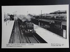 Steam Loco CUSTOM HOUSE Victoria Docks BECKTON c1934 Pamlin Print Postcard M140