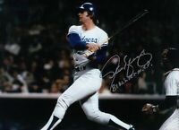 "Steve Yeager Signed 8X10 Photo Autograph ""81 WS Tri-MVP"" After Swing Auto w/COA"