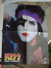 KISS 4-page fold-out poster, 2-sided, Paul Elder / Peter Criss Dynasty