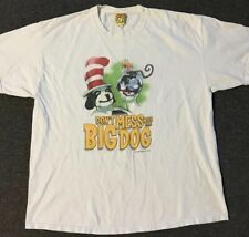 Vtg Big Dogs Dr. Swiss Cat In The Hat Parody Shirt XL Funny Comedy Movie USA 90s