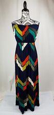 Three Pink Hearts size xl women's sleeveless geometric print maxi dress stretch
