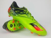 Adidas Mens Messi 15.1 FG AG S74679 Slime Green Solar Red Soccer Cleats Size 10