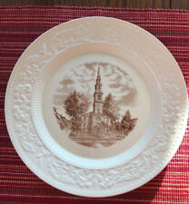 Vintage Wedgewood Brown University Plate - First Baptist Church