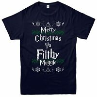 Harry Potter Christmas T-Shirt, Filthy Muggle Xmas Festive Adult & Kids Tee Top