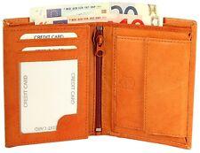 Herren-Geldbörse 9 x 12 cm Beige Echt-Leder Portemonnaie D-495330075016300