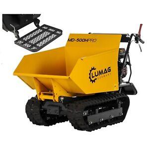 LUMAG Mini-Dumper Raupendumper Kettendumper mit Standplattform MD500HPRO 6kW