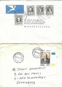 SOUTH AFRICA - 2 mailed covers to Luxembourg (k68)