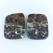 Australian Boulder Opal. Solid natural POLISHED GEMSTONE SPLIT by Smart Opals