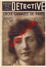 Detective n°336 du 04/04/1935 Croix gammées Espionnage nazi Sospel Campinchi