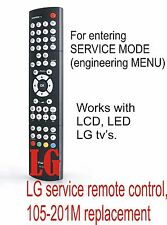 LG service remote control for LCD,LED TV's (105-201M replacement)