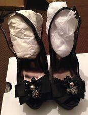 Atmosphere Women's Black Platform Heel Size 3/36 BNWOT